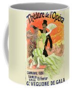 Reproduction Of A Poster Advertising The 1896 Carnival At The Theatre De L'opera Coffee Mug