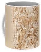 Rest On The Flight Into Egypt Coffee Mug by Federico Zuccaro