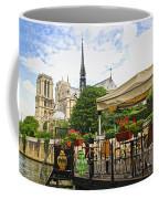 Restaurant On Seine Coffee Mug by Elena Elisseeva