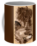 Resting Place - Digital Charcoal Drawing Coffee Mug
