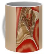 Resting Woman - Portrait In Red Coffee Mug