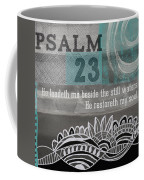 Restoreth My Soul- Contemporary Christian Art Coffee Mug by Linda Woods