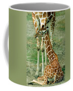 Reticulated Giraffe And Calf Coffee Mug
