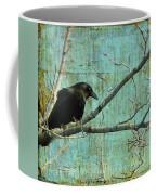 Retro Blue - Crow Coffee Mug