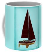 Retro Blue Sailing Coffee Mug