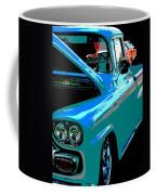 Retro Blue Truck Coffee Mug