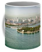 Retro Style Miami Skyline And Biscayne Bay Coffee Mug