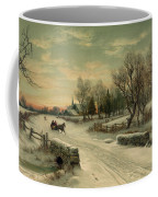 Retro Vintage Rural Winter Scene Coffee Mug