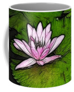 Retro Water Lilly Coffee Mug by Bob Christopher