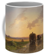 Return From The Field In The Evening Glow Coffee Mug