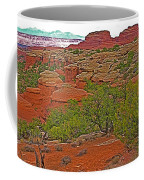 Return Trail To Elephant Hill In Needles District Of Canyonlands National Park-utah Coffee Mug