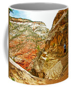 Return Trip On Hidden Canyon Trail In Zion National Park-utah Coffee Mug