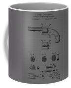 Revolver Firearm Patent Blueprint Drawing Coffee Mug