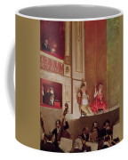 Revue At The Theatre Des Varietes, C.1885 Oil On Canvas Coffee Mug