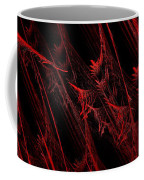 Rhapsody In Red H - Panorama - Abstract - Fractal Art Coffee Mug