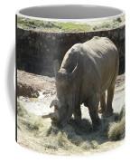 Rhino Eating Coffee Mug