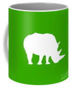 Rhino In Green And White Coffee Mug