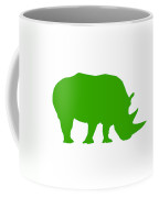 Rhino In Green Coffee Mug