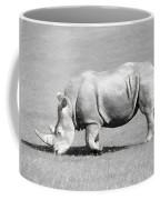 Rhinoceros Charcoal Drawing Coffee Mug