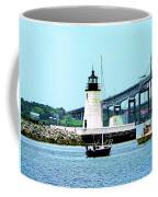 Rhode Island - Lighthouse Bridge And Boats Newport Ri Coffee Mug