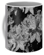 Rhododendron Heaven In Black And White Coffee Mug