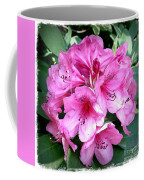 Rhododendron Square With Border Coffee Mug