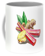 Rhubarb And Ginger Coffee Mug