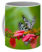Rice Paper Butterflies Coffee Mug