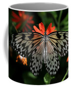 Rice Paper Butterfly Elegance Coffee Mug