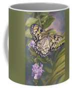 Rice Paper Butterfly Coffee Mug