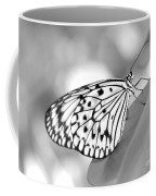 Rice Paper Butterfly Resting For A Second Coffee Mug