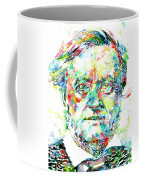 Richard Wagner Watercolor Portrait Coffee Mug