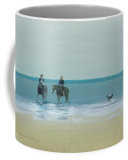Riders On The Beach Coffee Mug