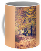 Riding A Bike In Autumn Coffee Mug