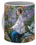 Riding Bycicle For Lilac Coffee Mug
