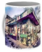 Riding High Skateboard Shop Watercolor Coffee Mug