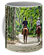 Riding In The Woods Coffee Mug