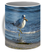 Ring-billed Gull With Its Catch Coffee Mug