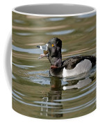 Ring-necked Duck Swallowing Snail Coffee Mug