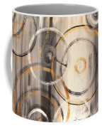 Rings Of Gold Abstract Painting Coffee Mug