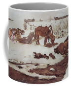 Rinsing Linen On The River 1901 Coffee Mug