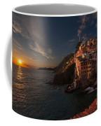 Riomaggiore Peaceful Sunset Coffee Mug by Mike Reid