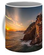 Riomaggiore Rolling Waves Coffee Mug by Mike Reid