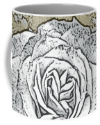 Ritzy Rose With Ink And Taupe Background Coffee Mug