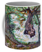 River And Plane Tree Coffee Mug