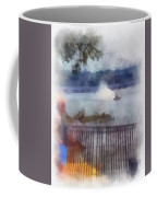 River Boat Speed Racing Vertical Photo Art Coffee Mug