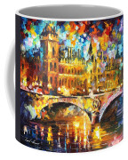 River City - Palette Knife Oil Painting On Canvas By Leonid Afremov Coffee Mug