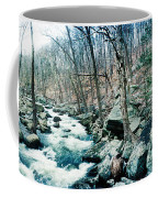 River Flowing Through A Valley, Hudson Coffee Mug