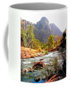 River In Zion National Park Coffee Mug