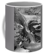 1m3646-bw-river Of Ice On Snowbird Glacier Coffee Mug